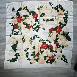 Authentic vintage Chanel floral scarf